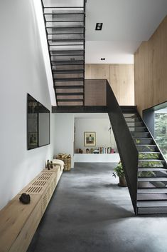 Modern Staircase Design Ideas - Stairs are so typical that you do not provide a reservation. Check out best 10 examples of modern staircase that are as spectacular as they are . Interior Stairs, Home Interior Design, Interior Architecture, Stairs Architecture, Studio Interior, Modern Interior, Loft Interior, Drawing Architecture, Interior Office