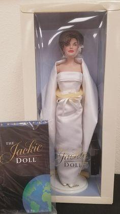 Franklin Mint Jackie Kennedy Doll Black Sheath Gown Ensemble With COA