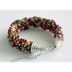 Multi Strand Bracelet ($16) ❤ liked on Polyvore featuring jewelry, bracelets, crystalglowdesign and multi strand bracelet