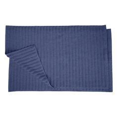 Superior Eco-Friendly Combed Cotton 1000GSM 2 Piece Bath Mat Set Navy Blue - L-BATH MAT NB