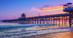 Purple Sky Wall Art - Photograph - There will be another one - San Clemente Pier Sunset by Scott Campbell San Clemente California, San Clemente Pier, Southern California Beaches, Long Beach California, Capistrano Beach, Scott Campbell, Purple Sky, Nose Art, Beach Town