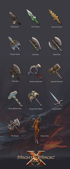 MMXLegacy weapon icons --by Nyatoto