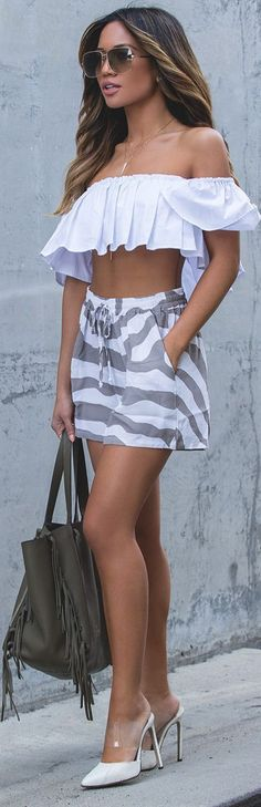 Print And Ruffle - Summer Style