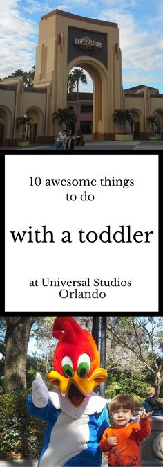 A list of the best rides, attractions, and playgrounds for visiting Universal Studios Orlando with a toddler - click to learn more!