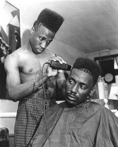 Een kapper.