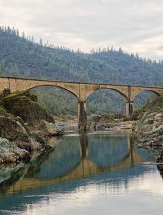 "The Mountain Quarry Cement Bridge, later known as ""No Hands Bridge"", California"