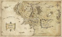 Middle Earth Map - The Lord of the Rings