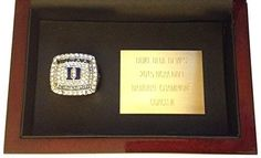 Duke 2015 Championship Ring Display - Rare Replica Ring with Wood Case & Plaque - College Basketball Memorabilia Coach K Blue Devils NCAA March Madness - Shipped from USA