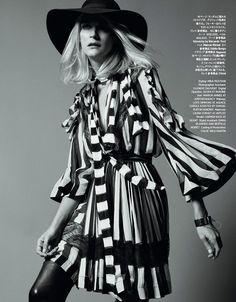 Carmen Kass for Harpers Bazaar Japan March 2015 - Page 2 | The Fashionography