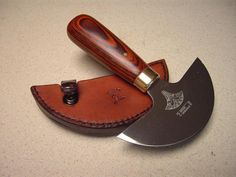 Leather sheath for a leather head knife