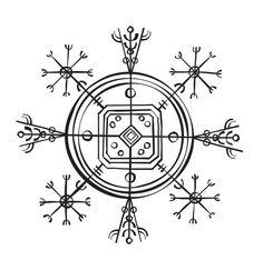 Aegishjalmur and Vegvisir Ægishjálmur Helm of awe; to