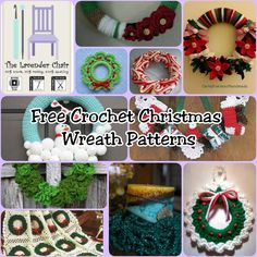 Free Crochet Christmas Wreath Patterns - The Lavender Chair