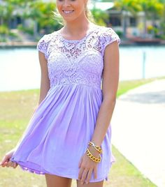 Lilac purple lace dress soo cute