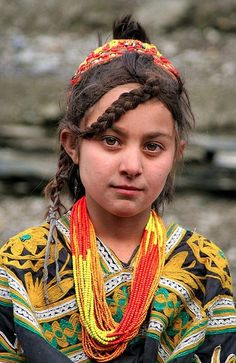 Kalash girl, Northen Pakistan