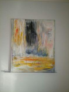 Art by Riitta Kalliokoski Luovuuden pistos. Abstact acrylic on canvas