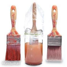 Paintbrushes full of dried paint or varnish don't have to be discarded. Done properly, a good soak in brush cleaner can restore the bristles to almost-new condition.