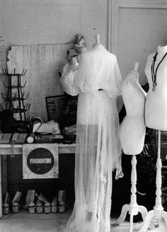 Dress forms in Martin Margiela's studio, Boulevard Saint-Denis (headquarters of the Maison from 1990 to 1994)