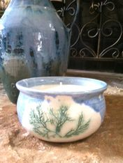 Signed ring holder pottery piece, Day at the Spa soy candle Buy it here:http://www.sassnfrass.net/#Lorissaleigh