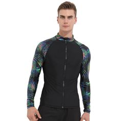 ff23409c67 Sbart Brand Black Long Sleeve Swim Shirt Surf Swimwear for Man UV  Protection Rash Guard Men Quick-dry Lycra Wetsuit