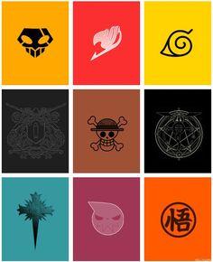 bleach, fairy tail, naruto, hitman, one piece, fullmetal alchemist, d grayman, soul eater, dragon ball