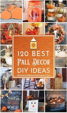 fall decor ideas for the porch 120 besten DIY Herbst Dekor Ideen . Cool Diy, Easy Diy, Fall Crafts, Diy Crafts, Diy Thanksgiving, Seasonal Decor, Fall Decorations, Thanksgiving Decorations Outdoor, Fall Harvest