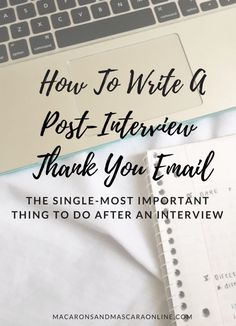 Tips For Writing A Post-Interview Thank You Email Interviews can be pretty daunting but the next crucial step is sending the perfect thank you email to the hiring manager. Teaching Interview, Teacher Interviews, Interview Answers, Phone Interviews, Job Interview Tips, Interview Techniques, Teaching Resume, Job Interview Questions, Teacher Tips