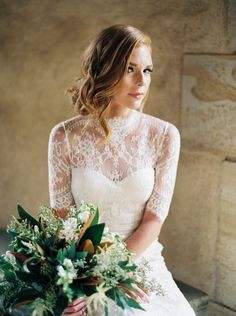 View entire slideshow: Modest Wedding Dresses Any Bride Can Love on http://www.stylemepretty.com/collection/4249/