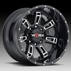 The Worx 808 Beast II Gloss Black with Milled Accents wheel is a wheel with a / bolt pattern and offset. The hub bore diameter is Custom Wheels And Tires, Rims And Tires, Jeep Wheels, Truck Wheels, Vw Amarok V6, 2007 Mustang, Ultra Wheels, Truck Rims, Cars