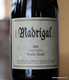 Madrigal Napa Valley Petite Sirah 2005 - Perfection. A 2005 vintage wine from Napa Valley for under $20?? http://www.reversewinesnob.com/2013/07/madrigal-napa-valley-petite-sirah.html #winelover