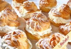 Puff pastry with cream French Deserts, Sweet Little Things, Polish Recipes, Polish Food, Eclairs, Cupcake Cookies, Pretzel Bites, Baked Goods, Cookie Recipes