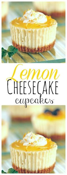 Cheesecake Cupcakes Mini Lemon Cheesecakes topped with lemon curd. The Flying Couponer Cheesecake Cupcakes Mini Lemon Cheesecakes topped with lemon curd. The Flying Couponer Mini Desserts, Brownie Desserts, Lemon Desserts, Lemon Recipes, Easy Desserts, Baking Recipes, Healthy Desserts, Muffin Recipes, Eggless Desserts