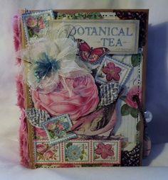 TPHH Terri Graphic 45 G45 Botanical Tea Scrapbook Great Mothers Day Gift Album #Handmade