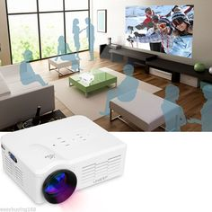 Mini LED LCD Projector Multimedia HD Home Theater USB/SD/VGA/HDMI/ATV for iPhone - http://electronics.goshoppins.com/tv-video-home-audio/mini-led-lcd-projector-multimedia-hd-home-theater-usbsdvgahdmiatv-for-iphone/