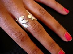 Silver Maple Leaf Ring, by Michael Lionel - sterling silver combination of high polish and matte finish
