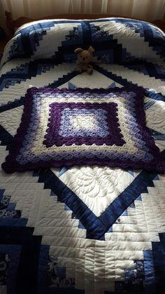 """The """"Beautiful Shells"""" blanket (in progress)."""