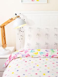 Little unicorn lovers will appreciate this screen-printed pillowcase. #EtsyKids