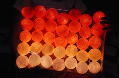 35 Bulbs Sunset tones cotton ball string lights for Patio,Wedding,Party and Decoration by ginew on Etsy https://www.etsy.com/listing/129637207/35-bulbs-sunset-tones-cotton-ball-string