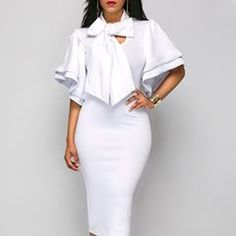 #love #bodycondress Dress Up, Bodycon Dress, White Dress, Formal Dresses, Womens Fashion, Dresses For Formal, Body Con, Costume, Formal Gowns