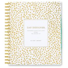 """$20 Day Designer Weekly/Monthly Planner, 2016-2017, 372pgs, 8.5"""" x 11"""" - Gold/White : Target"""