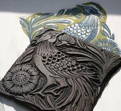 """In his finery"" Linocut Print by Amanda Colville, via Behance"