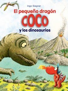 """""""El pequeño dragón Coco y los dinosaurios"""" de Ingo Siegner. Hablando de los antiguos dinosaurios, Óscar apuesta a que un dragón devorador como él podría con un tiranosaurio. Peri no cuenta con que Coco aún tiene el """"rayo lúser"""" de una aventura anterior, que le permite viajar en el tiempo. Así, Coco, Óscar y Matilde van al pasado más lejano, donde vivirán una de sus aventuras más increíbles. DE 6 A 8 AÑOS"""