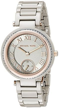 Michael Kors Womens Mini Skylar Grey Watch MK6241 >>> Find out more about the great product at the image link.