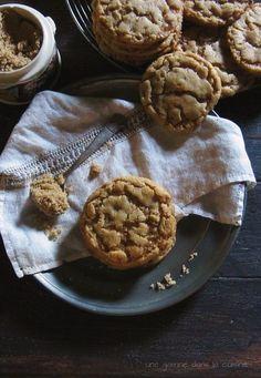 brown sugar + toffee cookies   une gamine dans la cuisine