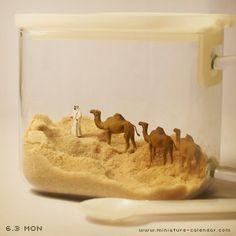 Desert? Dessert?  http://miniature-calendar.com/130603/                                                                                                                                                                                 もっと見る