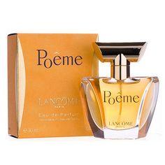 Lancome Poeme #Lancome  Томный, интригующий и таинственный аромат от известного бренда уже давно успел стать легендой. Уже несколько поколений женщин очарованы его магией, от которой большинство мужчин просто сходят с ума. Название парфюма очень точно характеризует это�