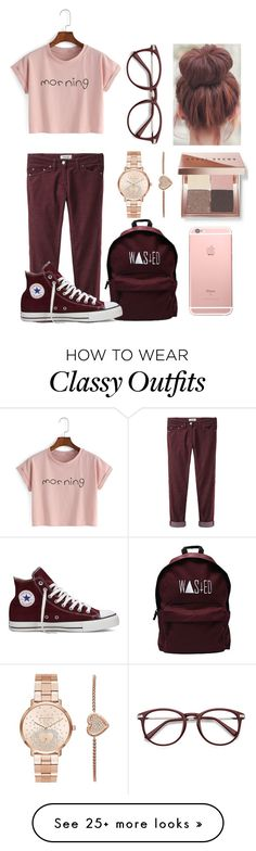 """""""Why So Classy"""" by casualbandgirl on Polyvore featuring Étoile Isabel Marant, Bobbi Brown Cosmetics, Converse, Michael Kors, casual, Pink, teen and classy"""