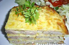 Különleges csirkés pite | Receptkirály.hu Dairy, Cheese, Food, Eten, Meals, Diet