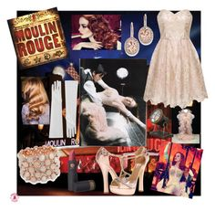Satine- Moulin Rouge by movielooks on Polyvore featuring Chi Chi, Dsquared2, Bling Jewelry, Kevin Jewelers, Lipstick Queen, Dot & Bo and Nicole