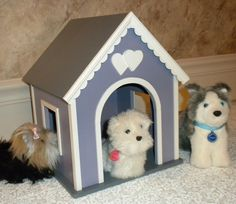 Dog house for American Girl doll pets via Etsy.