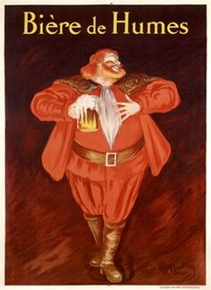 Cappiello Biere de Humes poster  - Beautiful Vintage Posters Reproduction. This poster features a man in red enjoying a glass of beer.